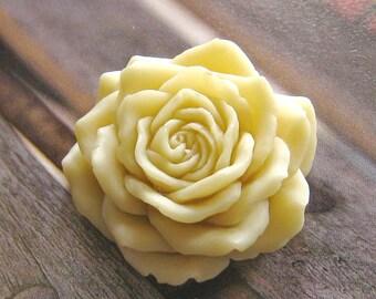 2 pcs - Big rose cabochon (CA831-C)