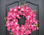 Orchid Wreath, Year Round Wreath, Front Door Decor, Door Wreaths, Spring Inspirations, Spring Wreaths, Summer Wreaths, Spring Fling