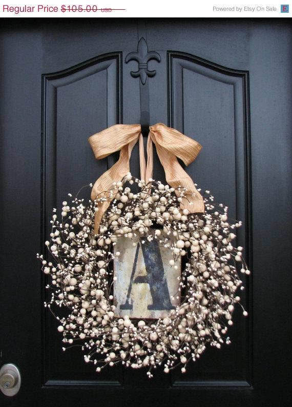 Monogram Wreaths January Wreathpersonalized Decor By