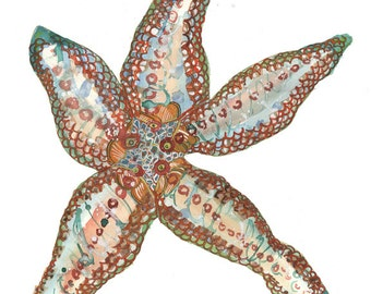 Starfish Open Edition // home decor// Art Print// starfish art art // beach art  5x7, 8x10, 11x14, or 13x19
