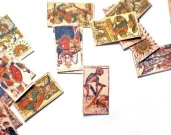 Miniature Marseilles Tarot Cards