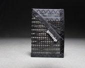 RFID Blocking Card Wallet - Carbon Fiber Card Sleeve ID - Black - Minimalist Mens Wallet