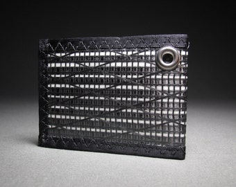 Rugged Carbon Fiber RFID Chain Wallet - Mens Wallet - Black - Bifold ID