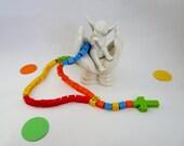 Lego Rosary - Colorful Rainbow Children Catholic Rosary made of Lego Bricks -