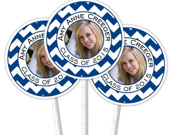 24 Cupcake Toppers, Graduation Cupcake Toppers, Graduation Photo Cupcake Toppers, Grad Cupcake Toppers