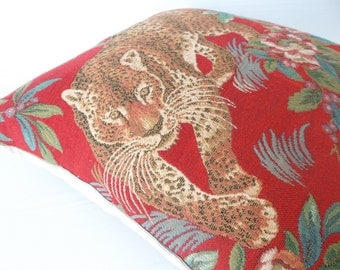 animal motif leopard pillow  cover ...ready to ship