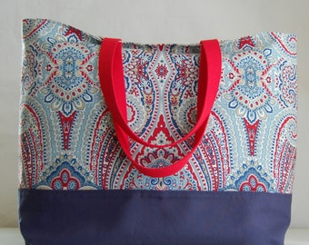 Paisley Pizzazz XL Extra Large Beach Bag / BIG Tote Bag - Ready to Ship