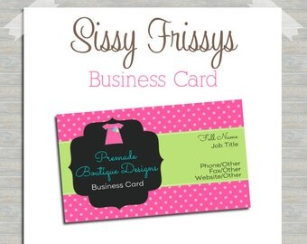 Business Card - Digital File - Business Card File - Earring Card - Jewelry Card - Hang Tag - Mom Card - Play Date Card - 212276778
