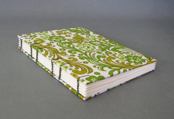 Large Journal, Pink Sari Swirls