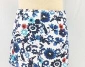 "18"" Girl Doll Clothes Black Cobalt Blue Red Aqua Flowers Straight Mini Skirt Girls Toy"