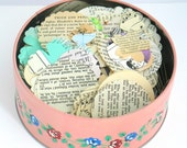 Vintage Paper Shapes, Vintage Die Cuts, Vintage Paper Goods, Scrapbooking, Journaling, Daily Planner, Project Life