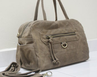 Top Handle Bag, Crossbody Bag, Sling bag, Travel bag, Canvas Bag, Zipper Bag, hobo Bag, Gift For Women - HERMATE - SALE 30% OFF