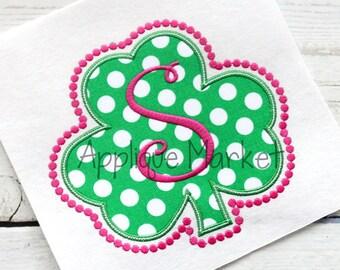 Machine Embroidery Design Applique Shamrock Frame Beaded INSTANT DOWNLOAD