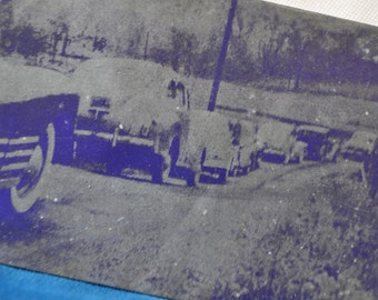 Newspaper Printers Block/Vintage 1930s 1940s/Vintage Cars/Copperplate Printing Block
