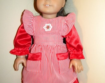 Dress and apron for 18 inch doll