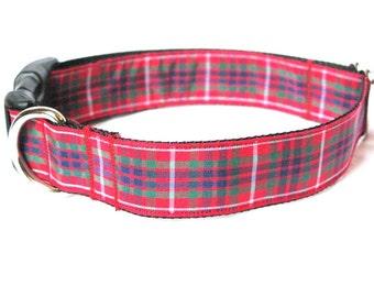 SALE! Fraser Tartan Large Dog Collar