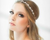 Crystal Ribbon Headband, Wedding Headband, Bridal Rhinestone Headband, Ribbon Headband