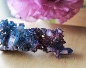 Rare Lavender and Tanzanite Aura Quartz Crystal Cluster, Mineral Specimen, Quartz,