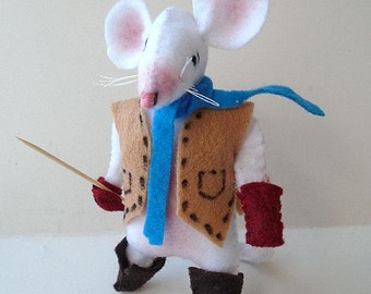 Pdf Sewing Pattern, Felt Mouse Miniatures, Soft Sculpture Stuffed Fiber Art, Plushie,  plush animal, Country Cousin Clem, Instant Download
