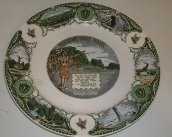 Vintage Mohawk Trail Plate