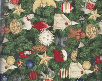 Green Ornaments All Over (70147-773) - BTY - South Seas