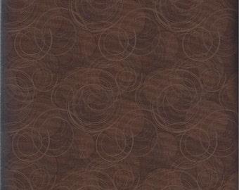 Price Reduced!  Potpourri Brown Kitchen Swirls (26062-222) - BTY - South Seas