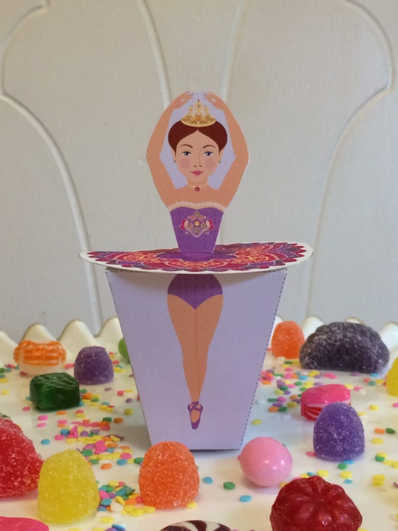 Ballerina Sugar Plum Fairy Favor Box Printable file