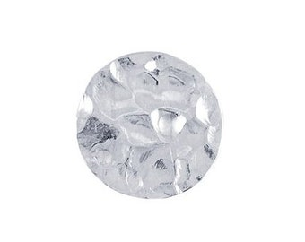 Sterling Silver Hammered Round Disk.-10mm, select a quanitity