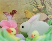 Fairy and newly hatched chick inside a Easter Sugar Egg you choose finishing touches