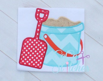 Sand Bucket Embroidery Applique Design