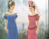 Edwardian Titanic Dress Period Era Reenactment Historical  Halloween Costume Sewing Pattern Butterick 3011 Plus Size 18 20 22 Bust 42 44 46
