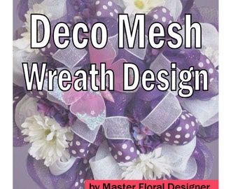 How To Make a Deco Mesh Wreath Tutorial, Deco Mesh Wreaths How to Make, How to Make Deco Mesh Wreaths for Front Door
