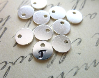 Shop Sale..20 50 100 pcs, 6mm, Sterling Silver Blanks Discs Sequins, Baby Circle Tags, 21 gauge, thick personalize stamping blank6 v2 solo