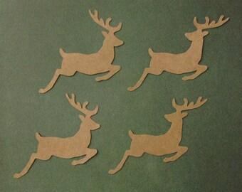 Christmas reindeer die cut embellishments 2 styles set of 8