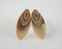 Vintage Gold Anson Cuff Links Unusual