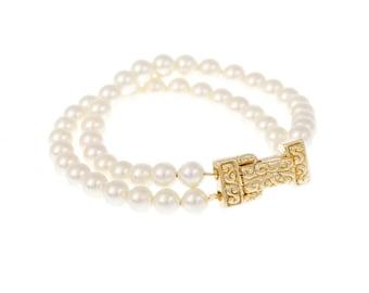 Gold Wedding  Bracelet Pearl  Bracelet Swarovski Pearls  Wedding Jewelry  Bridesmaid Bridal Bracelet