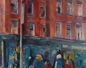 New York City Art - 14st - 8.5 x 11  Watercolor Print