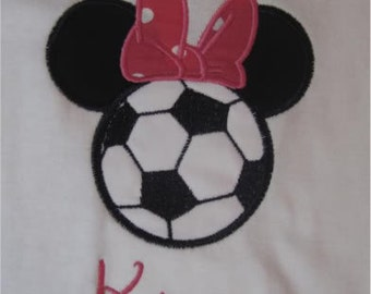 Soccer Miss Mouse Magical Vacation Custom Personalized Shirts for the Whole Family Girls Womens Name Included