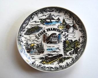 Vintage San Francisco Souvenir Plate, Home Decor, Made in Japan