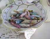 Handmade Paper Beads - Oval Beads (set of 20)