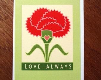 Carnation Card, Love Always