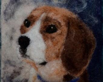 """101 """"Beagle"""" Thyme Tile Needle Felting Kit"""