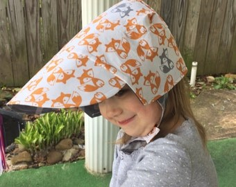 FOXY-finally, another Baseball cap bonnet for him!, Completely reversible with adjustable snaps, from Bella Sol Bebe