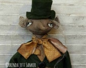 Primitive Folk Art Leprechaun Handmade Doll OOAK