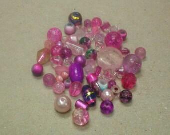 Beads Pink Mix