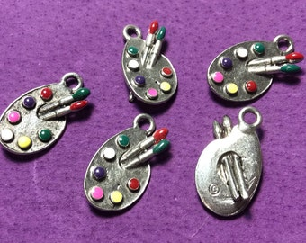 Paint Pallet Pewter Charms