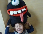 Pajama eater,  big funny monster pillow, black plush toy monster, large home decoration, nice stuffed toy