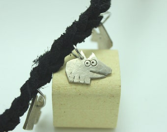 Sterling Silver Rat Charm: Mischievous Marvin
