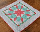 Swoon Baby Girl Quilt Aqua and pink Sale