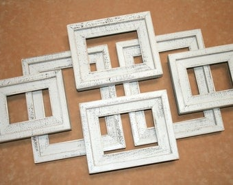 """Reserved for sgansert  2) 2""""wide picture frames, 20"""" x 24"""" with outside cap, both CBW, white and old white, with plexiglass"""